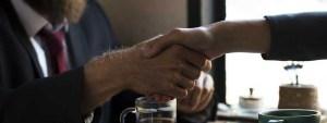 handshake meeting coffee