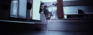 training kickboxer bag