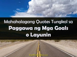 Your Wealthy Mind quotes tungkol sa paggawa ng mga goals