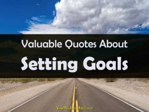 Your Wealthy Mind quotes about setting goals