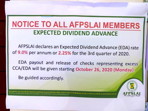 afpslai october 2020 notice