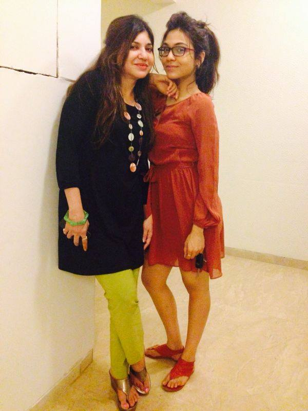 Alka Yagnik with her daughter Sayesha Kapoor