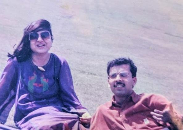 Alka Yagnik with her husband Neeraj Kapoor