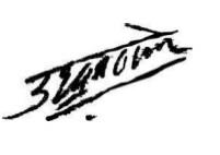 Uddhav Thackeray Signature