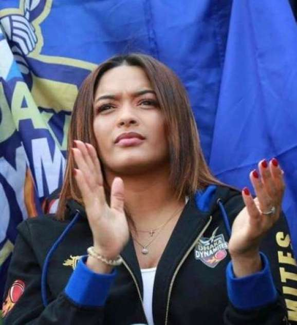 Jassym Lora in the stadium