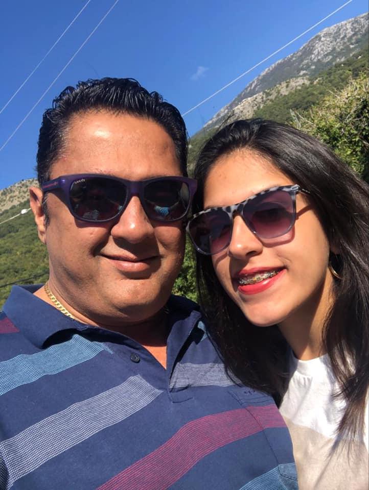 Sanjay b Jumaani with his daughter Vaishnevi