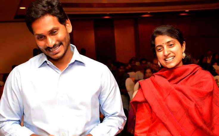 YS Jagan Mohan Reddy with his wife Y S Bharati