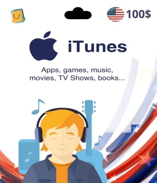 Carte App Store & iTunes 100$ USA