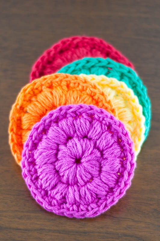 #Crochet Face Scrubbies | YouShouldCraft.com #freepattern