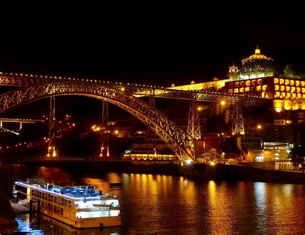 Porto bridge at night