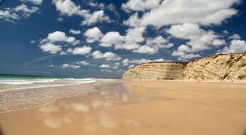 Praia Porto de Mos reflections