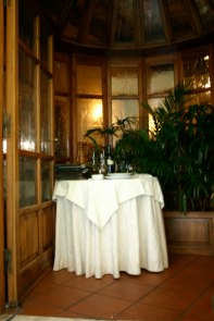 Ristorante Paris Trastevere table