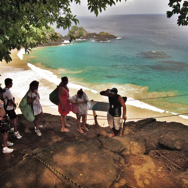 Praia do Sancho Fernando de Noronha cliff