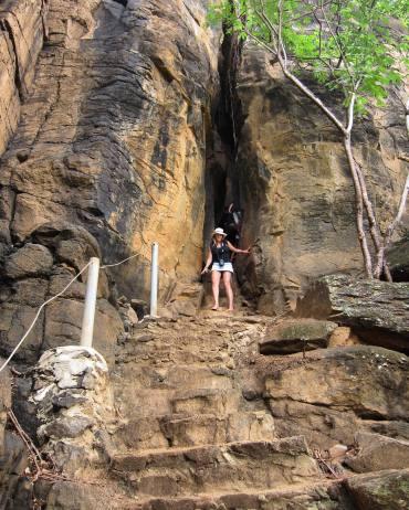 Praia do Sancho Fernando de Noronha stairway