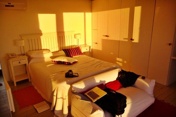 Posada del Faro room at sunset