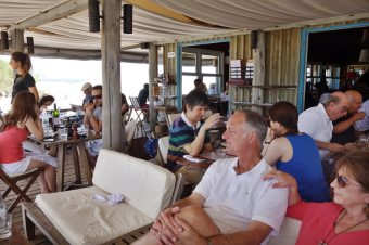 La Huella dining room outdoors