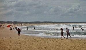 La Pedrera beachgoers