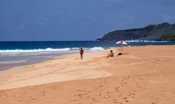 Praia do Leao sunbathers