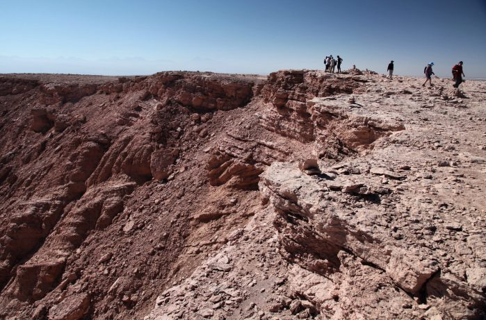 Atacama Desert canyon overlook