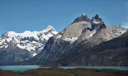 The Horns Torres del Paine sunshine