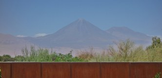 Tierra Atacama volcano view from room