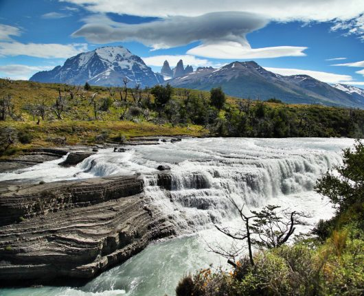 Torres del Paine National Park waterfall Towers
