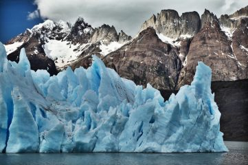 Torres del Paine Grey's Glacier closeup
