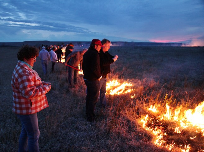 Flying W Ranch group fire lighting