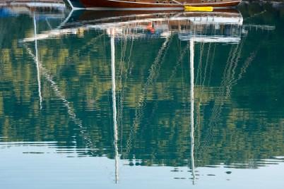 Mljet sailboat reflections