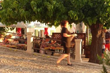 Postira restaurant sunset