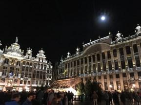 Brussels Grand Place Christmas display