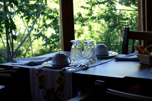 Chateau de Riell breakfast glasses