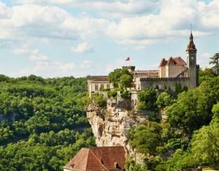 Rocamadour chateau cliff