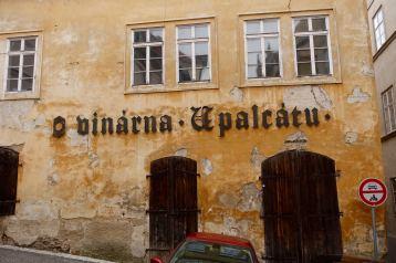 Prague building sign