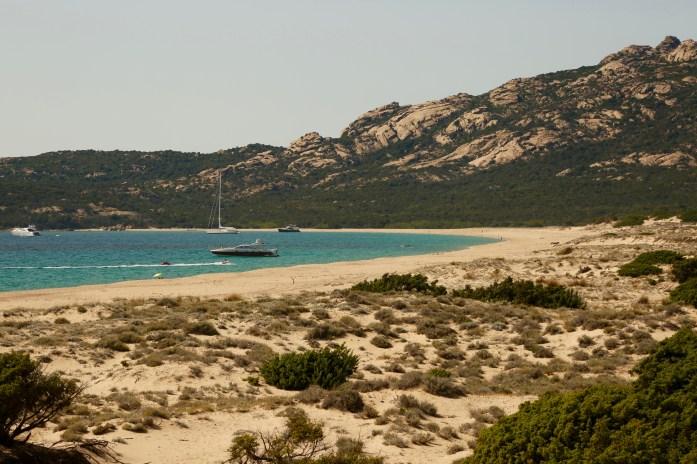 Domaine de Murtoli beach yachts