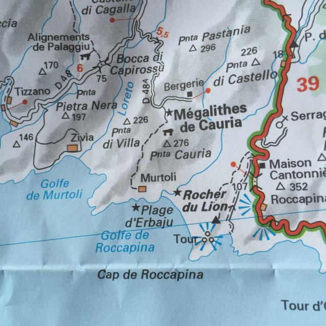 Domaine de Murtoli road map