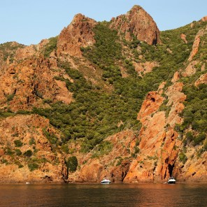Scandola Nature Reserve green cliffs