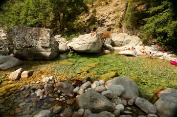 Gorge de Restonica sunbather