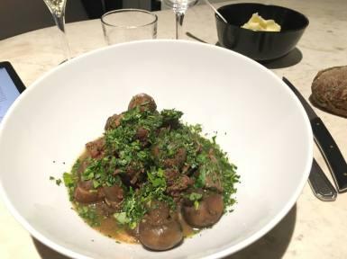 Cinq restaurant Tourrettes-sur-Loup dish