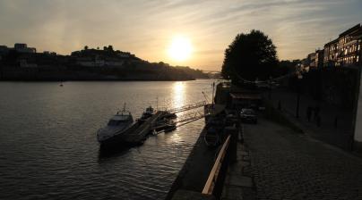 Porto Ribeira sunset view