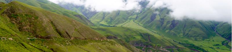 Cuesta del Obispo green panorama