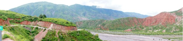 Cuesta del Obispo riverbed panorama