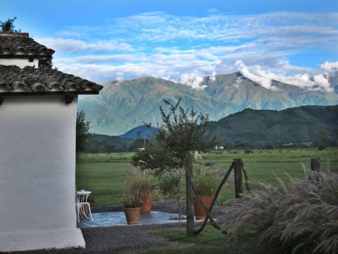 House of Jasmines Salta mountain view