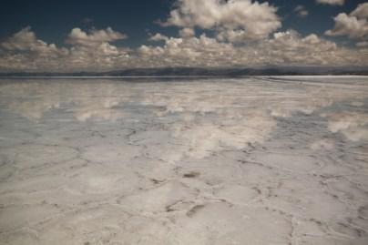 Salinas Grande Argentina mirror image clouds