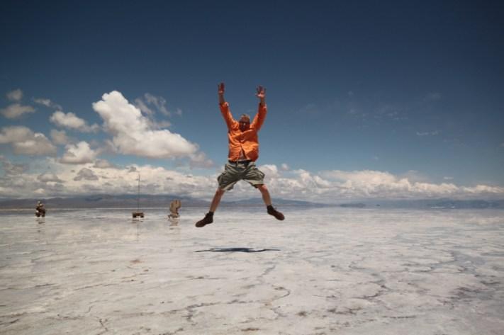 Salinas Grande Argentina jumping