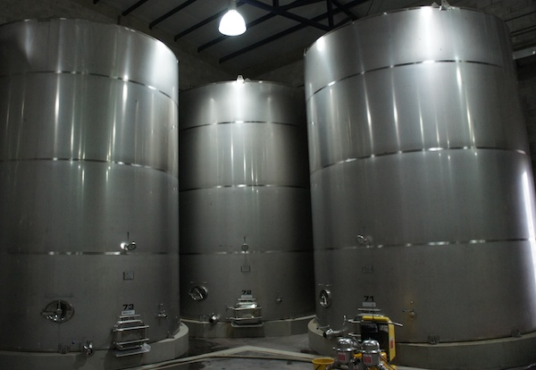 Colomé vineyards steel tanks