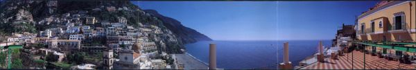 A postcard showing the 360 degree view from Casa Cosenza