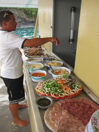 FERNANDO DE NORONHA boat food