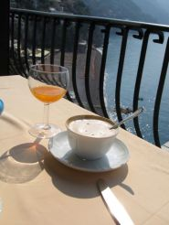 Cappuccino on the veranda Albergo Miramare