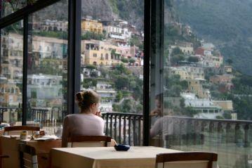 Albergo Miramare Positano restaurant view detail